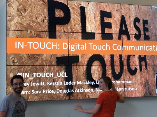 . Fieldwork with Loughborough University MA UX Design students on the Designing Digital Touch toolkit. Image credit: IN-TOUCH